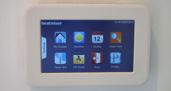 Image of a home automation control panel