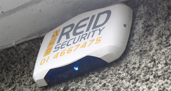 Example 1 of a REID Security Alarm in situ.